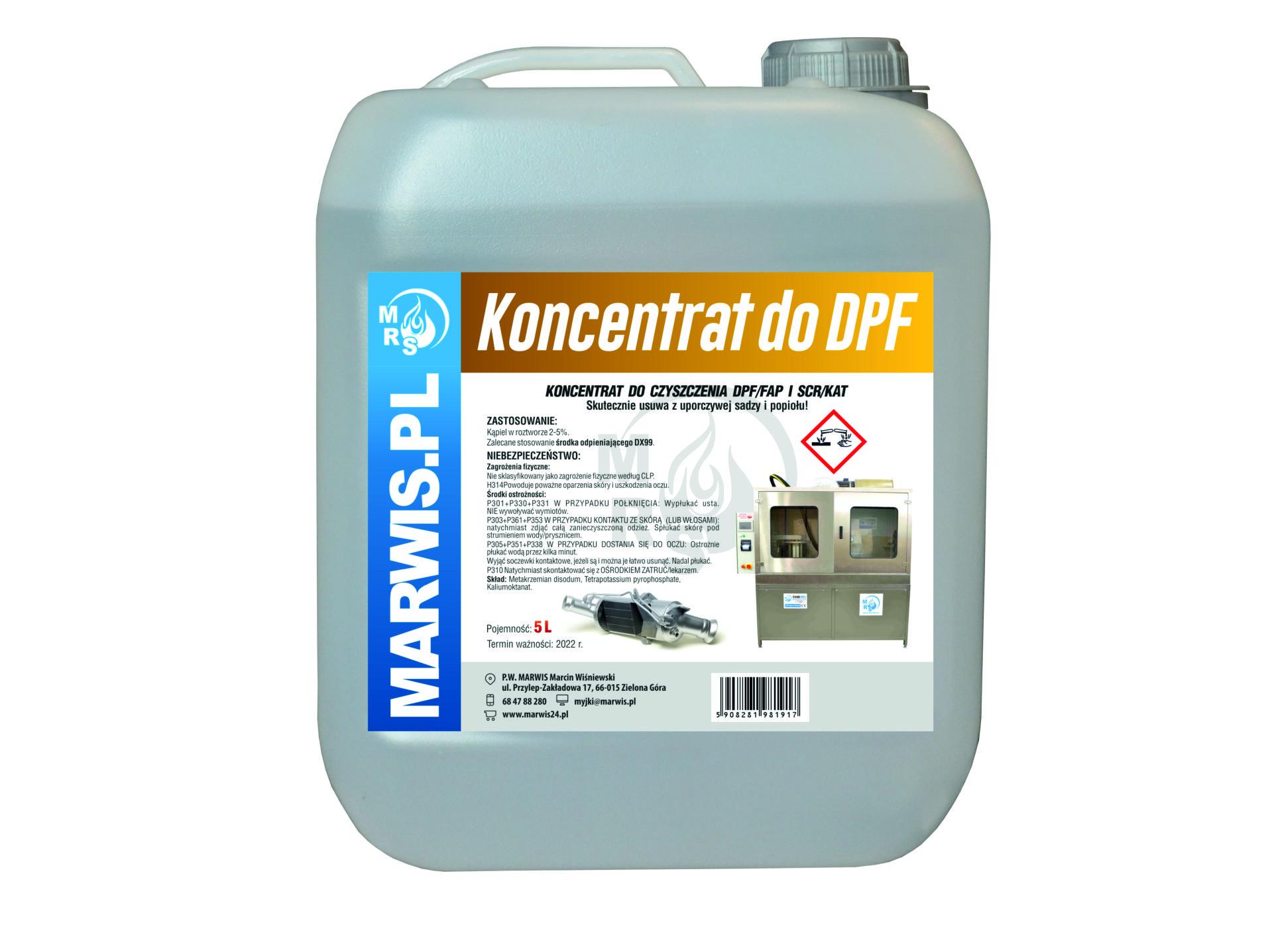 Koncentrat do czyszczenia DPF / FAP i SCR / KAT