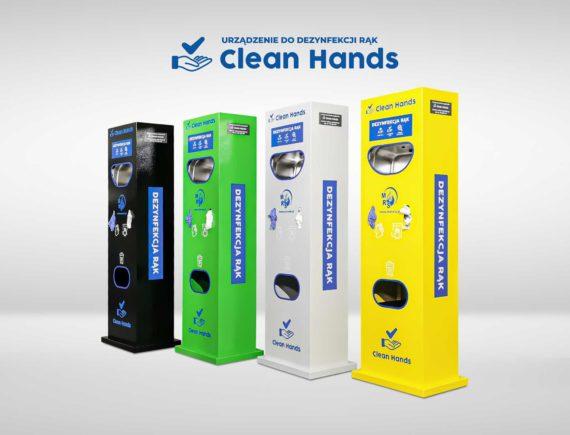 Clean Hands niezawodne urządzenie do dezynfekcji rąk